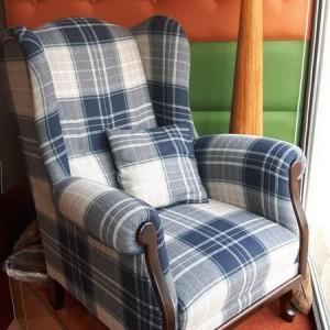 fotel w wzory