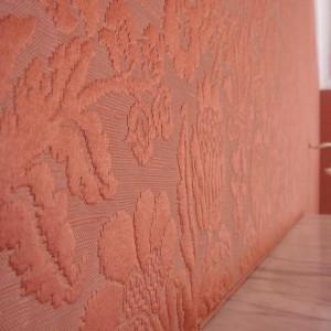 tkanina na ścianie
