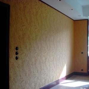 widok ściany z tapetą