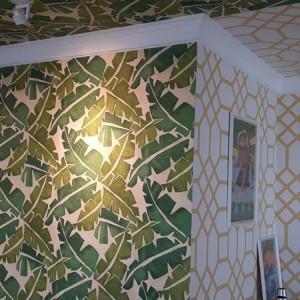 wzór tapety na ścianie