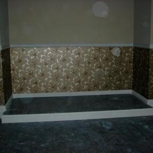 tapeta z wzorem na ścianie