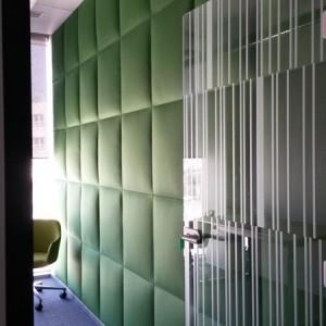 zielony panel akustyczny